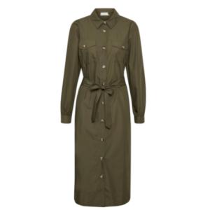 KAFFE KADORIA POPLIN DRESS- 10505288-GRAPE LEAF online juul-webshop.nl