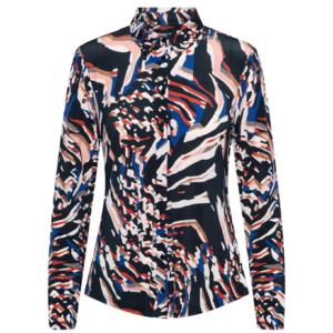 &Co Woman blouse lotte weave navy online www.juul-webshop.nl